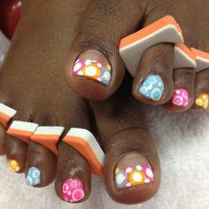 Summer Nails:Bubble nails art #SummerNails