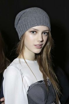 Esther Heesch backstage at BCBGMAXAZRIA F/W13 RTW