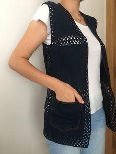 Crochet Shirt, Yarn Crafts, Refashion, Crochet Stitches, Couture, Hermes, Knitting, Womens Fashion, Pattern
