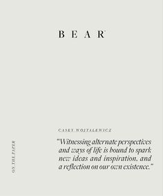 B E A R (@bear.ltd) • Instagram photos and videos Perspective, Reflection, Bear, Thoughts, Photo And Video, Math Equations, Life, Inspiration, Instagram