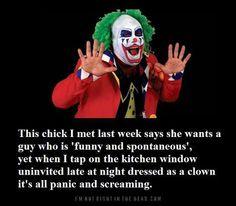 Laugh clown, laugh!