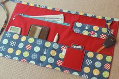 Vendor Utility Apron - Red with Dots - for craft shows, festivals, bazaars and fairs - Ready to Ship