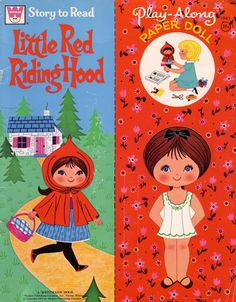 Little Red Riding Hood paper doll with story