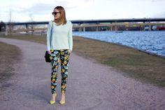 Fotballfrue flower pants
