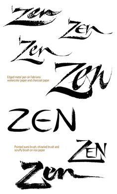 Zen Brushwork in Contemporary Lettering Design on Behance