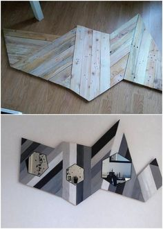 This image is all about an extraordinary creation of the wood pallet that can turn out as the mean of using it for the house wall decoration piece. It is shaped in the crafting zig zag form of design that is one of its catchier features. It look classy and somehow grabs the attention of the outside guests coming into your house.