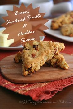 Bacon Sundried Tomato and Cheddar Scones Shared on https://www.facebook.com/LowCarbZen | #Low #Carb #Gluten #Free #Scones