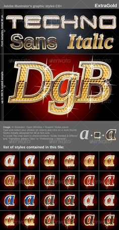 Illustrator Graphic Styles - Extra Gold - GraphicRiver Item for Sale