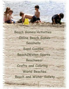 Games, Fun , Ideas for the beach