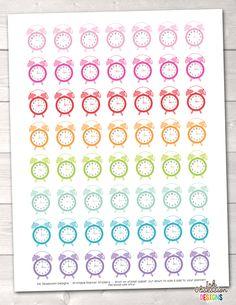 Alarm Clocks Printable Planner Stickers – Instant Download PDF for your Erin Condren Life Planner