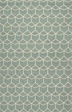 Barcelona Blue/Ivory Geometric Indoor/Outdoor Area Rug