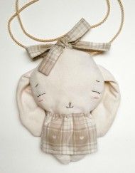 MyCuddle™ - Bunny Bag with the Ribbon - eco, organic toys, dolls and accessories, handmade in Italy