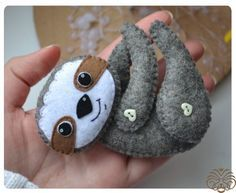 ❣Felt Sloth and baby sloth FREE pattern❣