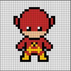 plantillas hama beads superheroes dc flash