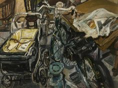 John Randall Bratby - The Bicycle Interior, Oil on board, 86 x 115 cm, Bolton Library & Museum Services, Bolton Council. John Bratby, Best Interior Design Websites, William Hogarth, English Artists, Mid Century Art, Art Uk, Urban Life, Everyday Objects, Your Paintings