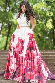 White/Multi Sleeveless Satin A-line Prom Dress 34028