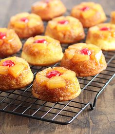 I'm a sucker for exotic fruit used in desserts... and these mini Pineapple Upside Down Cupcakes from @Amy The Blond Cook are not only precious, but they sound really wonderful as a sweet treat, too! /ES