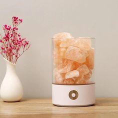 Himalayan Salt Crystals, Himalayan Salt Lamp, Salt Crystal Lamps, Natural Salt, Air Purifier, Led Lamp, Night Light, Electromagnetic Radiation, Sleep Better