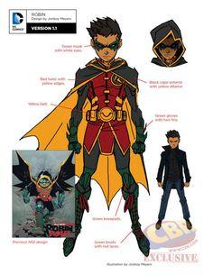DC Rebirth: Robin Concept Art - Jonboy Meyers