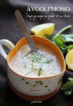 avgolemono, soupe grecque au poulet et au citron - chicken and lemon greek soup
