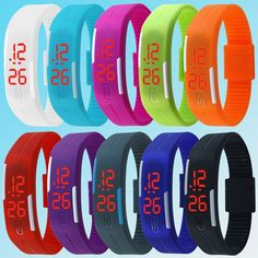 New Arrival Fashion Jewelry Unisex Sport LED Watches Candy Color Silicone Rubber Touch Screen Digital Watches, Womens And Mens Bracelet Bangle Wristwatch Children's Watches BY EZMAX Bracelets For Men, Fashion Bracelets, Fashion Jewelry, Charm Bracelets, Sport Watches, Watches For Men, Children's Watches, Jewelry Watches, Digital Wrist Watch