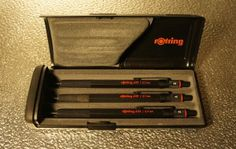 Rotring 600 mechanical pencils set, boxed