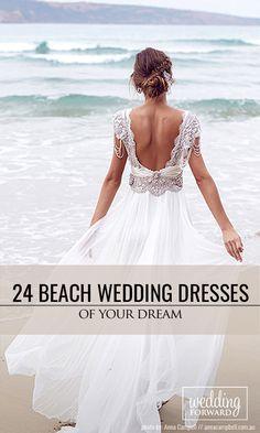 24 Beach Wedding Dresses Of Your Dream ❤ Choose beach wedding dress from light fabrics, such as cotton, chiffon or silk with exquisite decorative trim. See more: http://www.weddingforward.com/beach-wedding-dresses/ #wedding #dresses #beach