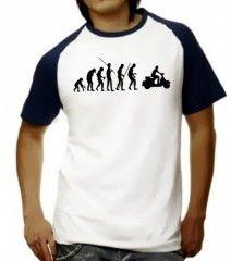 Camiseta Ilustrada evolución hasta la vespa