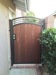 Bination Gates Bellflower Steel Framed Wood Gates Bellflower Design Ideas Of Decorative Gate Hinges