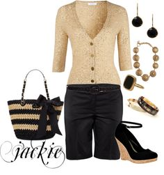 """Dressing up black shorts"" by jackie22 on Polyvore"