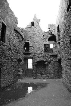 Inside Dunnottars Tower House Or Keep