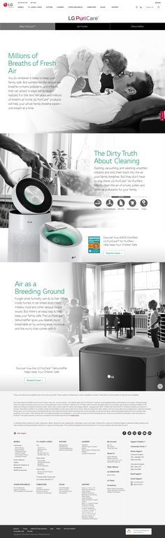 Protect your family and improve your indoor air quality with LG PuriCare air care products! Commercial Appliances, Air Care, Inside Home, Breath Of Fresh Air, Air Pollution, Dust Mites, Indoor Air Quality, Air Purifier, Going To Work