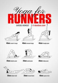 Yoga for Runners by DAREBEE #darebee #workout #yoga #runner #running
