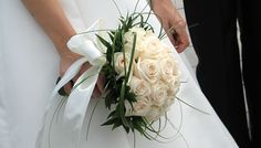 Ramo de rosas blancas - boda / matrimonio