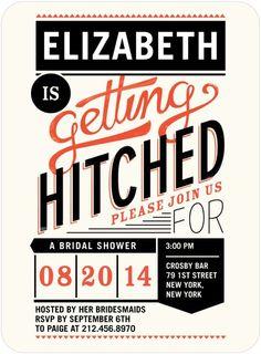 coral backyard bridal shower invite