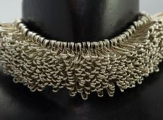 "Old silver plated pins choker from the ""Hedgehog"" collection by Paris-based French jewelry designer and maker Clémence Heuge. Funky Jewelry, Unusual Jewelry, Recycled Jewelry, Jewelry Crafts, Jewelry Art, Handmade Jewelry, Jewelry Necklaces, Jewelry Design, Layered Jewelry"