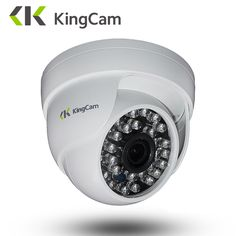 KingCam lens Dome IP Camera Security indoor ipcam Day/Night View Home CCTV ONVIF Surveillance Cameras. Dome Camera, Camera Lens, Security Alarm, Security Camera, Nikon, Home Cctv, Camera Prices, Remote Viewing, Camera Reviews
