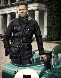 Panther Antique Black Leather Jacket by Belstaff
