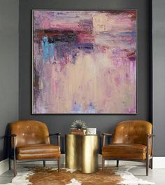 Large Abstract Art Handmade Oil Painting On by CelineZiangArt