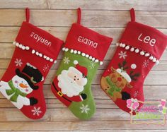 personalised christmas stocking First by Littlestitches1 on Etsy