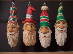 "Santa ornaments 1"" x 1"" x 4"""