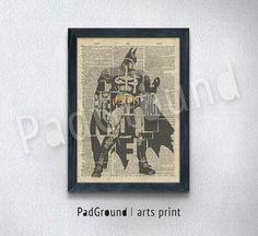 Batman Print Dictionary Poster Vintage Canvas Print by PadGround