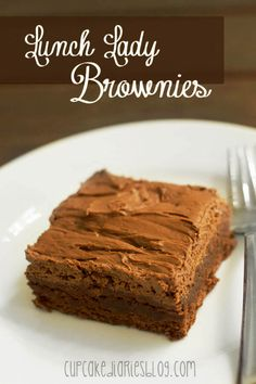 Lunch Lady Brownies #chocolate #brownie #bar