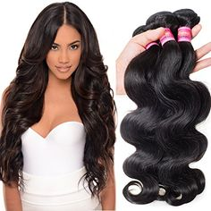 Haorui Virgin Brazilian Body Wave Weft 3 Bundles 1026inch 100 Cheap Unprocessed Human Hair Extensions Natural Color 1005gpc 14 16 18 * Continue to the product at the image link from Amazon.com