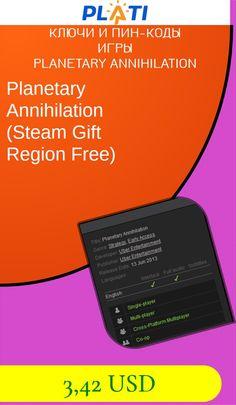 Planetary Annihilation (Steam Gift  Region Free) Ключи и пин-коды Игры Planetary Annihilation