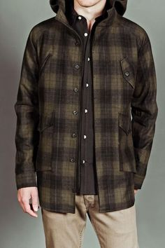 Men's Plaid Flannel Jacket,