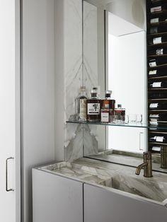 Where Architects Live   Emma Templeton Bathroom Faucets, Bathroom Medicine Cabinet, Bathrooms, Sinks, Apparatus Lighting, Melbourne Architecture, Architecture Design, Wrought Iron Fences, Melbourne House