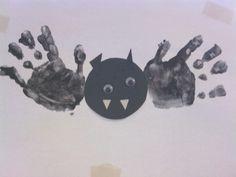 Handprint & Shapes Bat