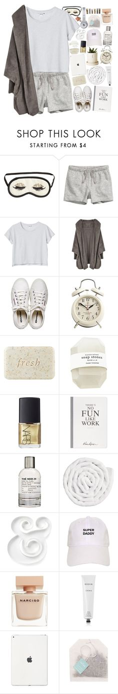 """The Lonely Into Busy"" by h-eartstrings ❤ liked on Polyvore featuring H&M, Monki, Henri Bendel, Fresh, NARS Cosmetics, Selfridges, Le Labo, VIPP, Kate Spade and Narciso Rodriguez"