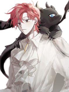 Red Hair Anime Guy, Red Hair Boy, Hot Anime Guys, Cute Anime Boy, Anime W, Dark Anime, Manga Drawing, Manga Art, Fantasy Characters